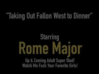 Hard Dark Dinner? Black Cock Rome Major Bangs Ginger Bush Fallon West!