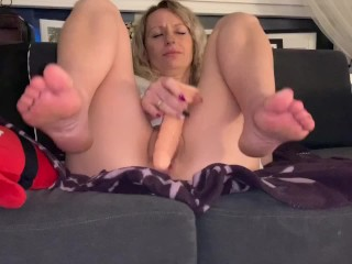 Hidden cam, playing while watching tv, reverse cowgirl doggy cum in ass
