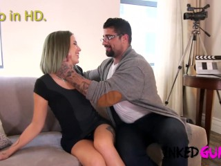 Inked Gurlz - Tattoos on the Butt and Dick in the Cunt