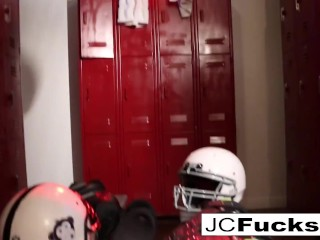 Fanatic Lesbians fuck in the locker room