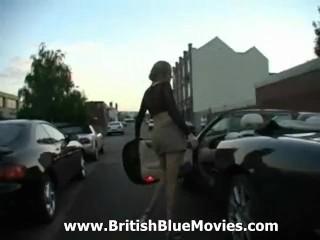 Stunning English blonde Estelle gets gang banged!