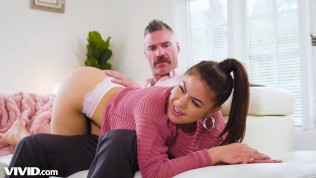 The Brat Kendra Spade Spanked & Punished by Step-DADDY! -VIVID