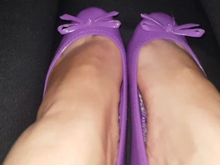 Slave lick my smelly flat shoes and feet