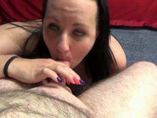 ChickPass - Raunchy mom Selena Sky gives a blowjob to a geek