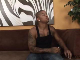 horny hot mom fuck big black man on the sofa