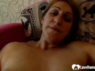 milf with big boobs plays with her stepson