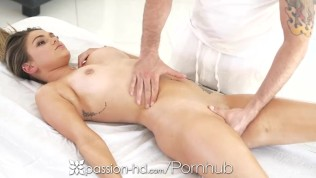PASSION-HD Sensual Massage With Cum Hungry Brunette
