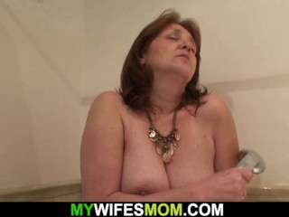old busty girlfriends mom gets teased and doggy-fucked