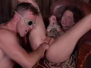 babe roxy lips pussy fucked deep and hard by her hot bdsm master