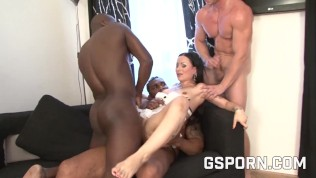 Cone huge dildo in her ass and hot orgy