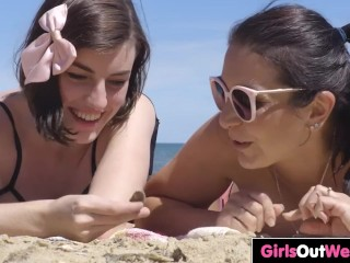 Big titted hairy chick Luci has lesbian sex with shaved MILF Chasey