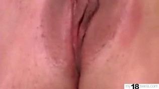 petite blonde pussy play wet pussy after waking up – hot homemade