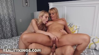 Reality Kings – slutty blonde Chloe Cherry shares cock with stepmom