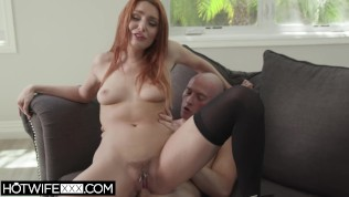 hotwifexxx - husband watches redhead shared hot wife lacy deepthroat