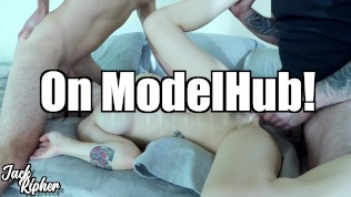 Hot Teen MMF Threesome & Cum As Lube!