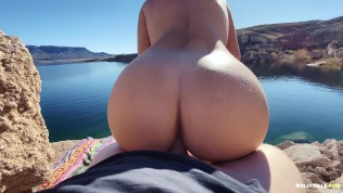 Amateur Adventure Porn – Molly Pills – Lakeside Fucking POV