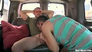 BAIT BUS - Straight Neighbor Alex Adams Fucks Blake Savage In Our Van