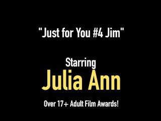 Big Titty Milf Julia Ann Bangs Her Beautiful Bare Box With Dildo For Fan!