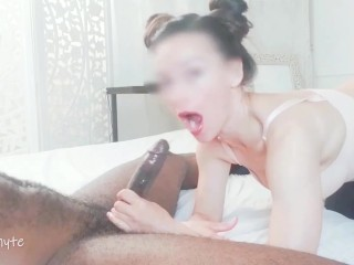 Girlfriend Swallows Every Drop of Cum Out Thick Cock