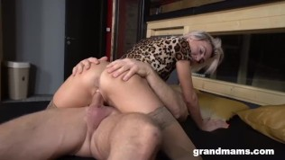 Fit Granny Fucked by Horny Stud