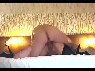 Painful anal for slut wife biggest dick in ass, stranger fucks whores holes
