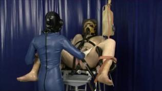 Heavy Rubber Latex Gas Mask Breath Play Control Femdom Clinic Bondage Slave