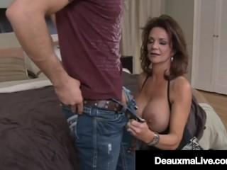Busty Mature Muff Deauxma Fucks & Milks A Younger Man's Hard Cock