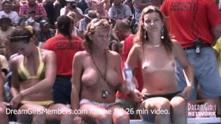 Конкурс мокрой футболки жены эксгибициониста на курорте нудистов
