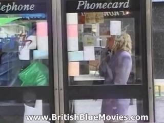 English Slut gets both holes fucked in this British retro porn video