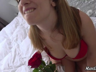 ANAL squirting orgasm on valentine's day 2020 - Big natural tits