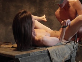 This small intercourse slave acquires tied up, face smashed and spanked.