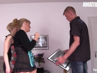 Reife Swinger - Two Blonde Mature Bitches Fuck Their Neighbour - AmaterEuro