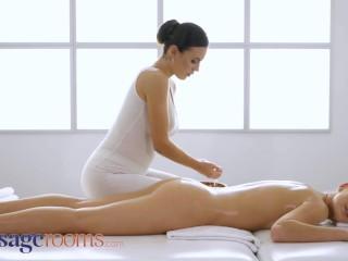 Massage Rooms big natural boobs vanessa decker gives alexis crystal orgasm