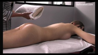 Russian first timer massaged pussy