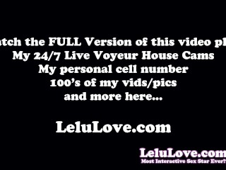 Masturbating through my panties w/ JOI on my live webcam show - Lelu Love