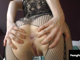 Fuck That Little Butthole! Red Penny Pax Stuffs Her Tiny Holes & Cums!