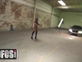 MOFOS - Big tit Gabbie Carter boothbabe strip on shoot