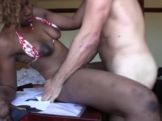 Blowjob/sloppy/for black fucked a gets