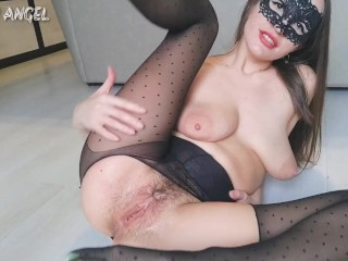 RIPPED PANTYHOSE RIPPED CREAM PUSSY AND BIG GAPING PUSSY