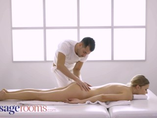 Massage Rooms Beautiful blonde Polina Max romantic oral and hot anal sex