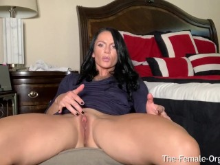 MILF with Giant Clit and Fleshy Wet Pussy Masturbates To Pulsating Orgasms
