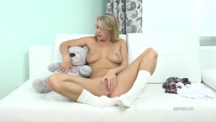 super horny and hot blonde student quickie pervert teddy bear