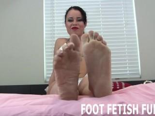 POV Footjob And Femdom Feet Worshiping Porn