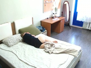 Hidden Camera In My Stepsister's Room To Peep How She Masturbates