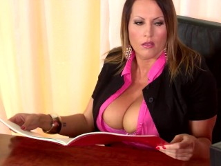 office hot threesome with sexy secretaries laura orsolya and abbie cat
