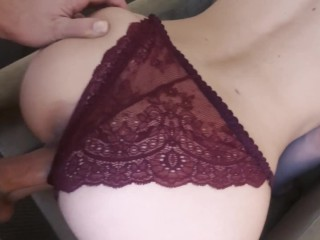 Roughly fuck a slutty escort girl in her throat and pussy.