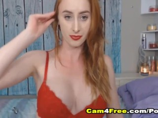 slut with perky boobs plays her tight pussy