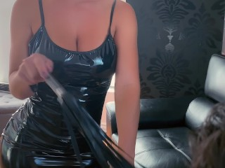 HOT Wife ties up her husband and makes him watch