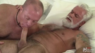 Two Silver Daddies Share Holes and Loads