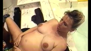 Horny big black dick fuck mature woman on the swimming pool